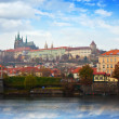 Foto Stock: Prague Castle from Vltavside
