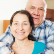Portrait of happy elderly man with girlfriend — Stock Photo