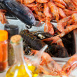 Stock Photo: Fresh raw seafoods and spices