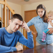 After quarrel at home — Stock Photo
