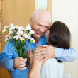Greeting of mature couple — Stock Photo #40793457