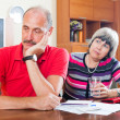 Senior couple did not have money to repay the loan — Stock Photo