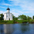 Church of Intercession on River Nerl — Stock Photo #40793859