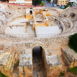 Stock Photo: Ancient Romamphitheater at Mediterranean