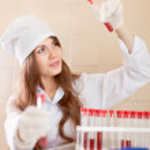 Scientific worker in laboratory — Stock Photo #40794451