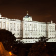 Night view of Royal Palace of Madrid — Stock Photo