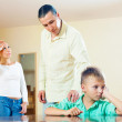 Parents scolding son in home. — Stock Photo #40795257