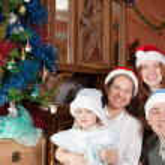 Family Christmas portrait — Stock Photo