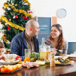 Family at Christmas — Stock Photo