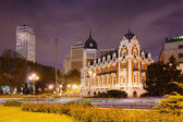Night view of Spain Square — Stock Photo