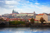 Prague Castle from Vltava side — Стоковое фото