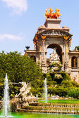 Cascada fountain in Barcelona in summer — Стоковое фото
