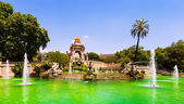 Cascada fountain in Barcelona in summer — Stock Photo