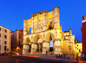 Evening view of Basilica of Our Lady of Grace. Cuenca — Stock Photo