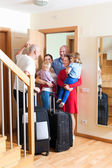 Seeing off the relatives — Stock Photo