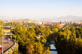 Pamplona in sunny morning — Stock Photo