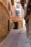 Ordinary street of spanish town in sunny day — Stock Photo