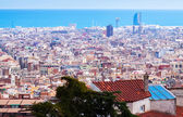 Top view of Barcelona. Catalonia — Stock Photo