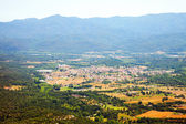 Top view of ordinary Catalan village — Stock Photo
