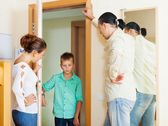 Parents meeting with berate of teenage son — Stock Photo