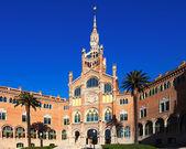 Main facade of hospital de Sant Pau. Barcelona — Stock Photo