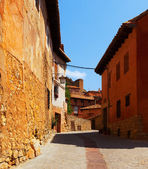 Ordinary street of old spanish town  — Photo
