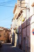 Rua da cidade catalã. — Foto Stock