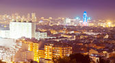 Night view of Barcelona with Torre Agbar — Stock Photo
