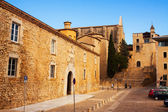 Old street view of medieval Girona  — Stock Photo