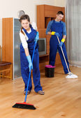 Cleaning team in uniform — Stock Photo