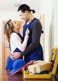 Usługa mężczyzna i kobieta o romans — Zdjęcie stockowe