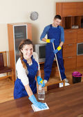 Professional cleaners — Stock Photo