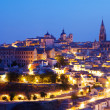Toledo with Cathedral in night. — Stock Photo #46910161