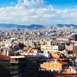 Panorama of Barcelona city from Montjuic — Stockfoto