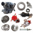 Motor and few automotive parts — Stock Photo #46911023