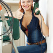 Portrait of sexy beautiful girl with tools — Stock Photo #46912115