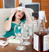 Girl having headache — Stock Photo