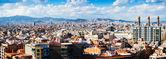 Panorama of Barcelona city from Montjuic    — Photo