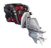 Engine of motor boat — Stock Photo