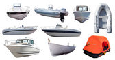 Set of  boats — Stock Photo