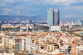 metropolitan area in cloudy day. Barcelona  — Foto Stock