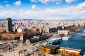 Barcelona city from port side  — Stock Photo