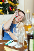 Sick having hangover — Stock Photo