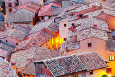 Roofs of spanish  town in evening. — Photo