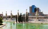 Parc de l'Espanya Industrial in Barcelona — Stock Photo