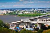 Vista de nizhny novgorod. metro ponte — Foto Stock