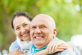 Portrait of smiling mature couple  — Stock Photo
