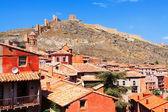 City wall of Albarracin on  summer day  — Foto Stock