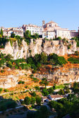 Picturesque view with  houses on rock in Cuenca  — Photo