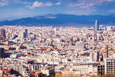 Barcelona from high point.  Catalonia — Stock Photo